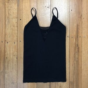 Free People Intimately Ribbed Cami w/Sheer V Panel